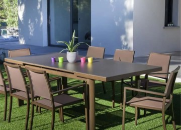 Table De Jardin Extensible Marron | Table De Jardin Extensible ...