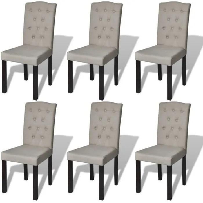 Lot de 6 chaises de salle  manger salon gris  Achat  Vente chaise Gris  Cdiscount