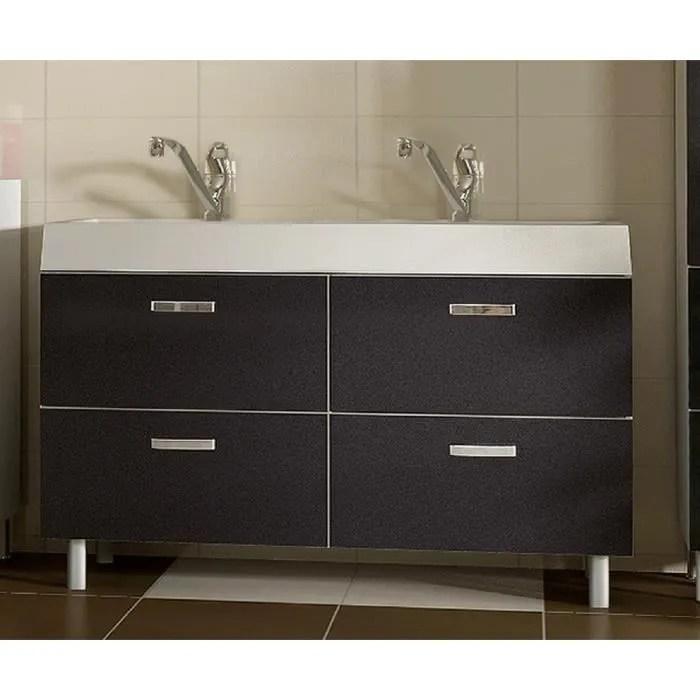 LAVABO DOUBLE VASQUE salle bain EVO METAL 120 cm  Achat  Vente lavabo  vasque LAVABO DOUBLE