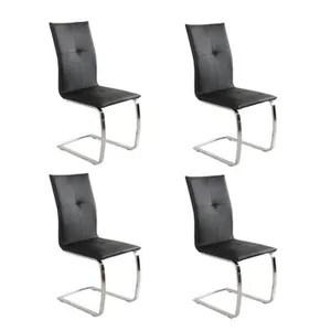 chaise lot de 4 chaises swing en tissu enduit polyurethan