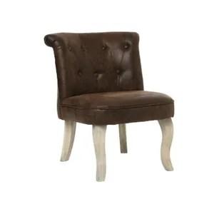 fauteuil lot de 2 fauteuils effet cuir calixte petit modele