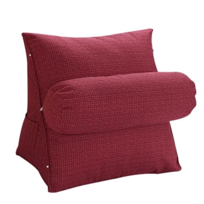 halovie coussin de positionnement triangle support de cou repose en laine pour canape chaise bureau lit rouge