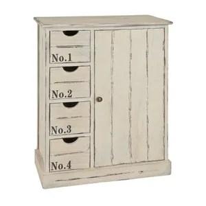 commode de chambre commode en bois massif blanche dim l60 x h79 x