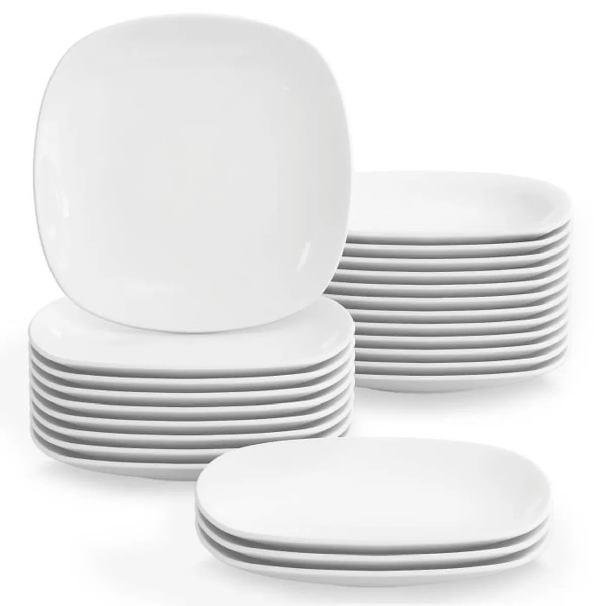 09bf9087d1c0ce Assiettes Plates Pas Cher   Générique Lot De 6 Assiettes Plates ...