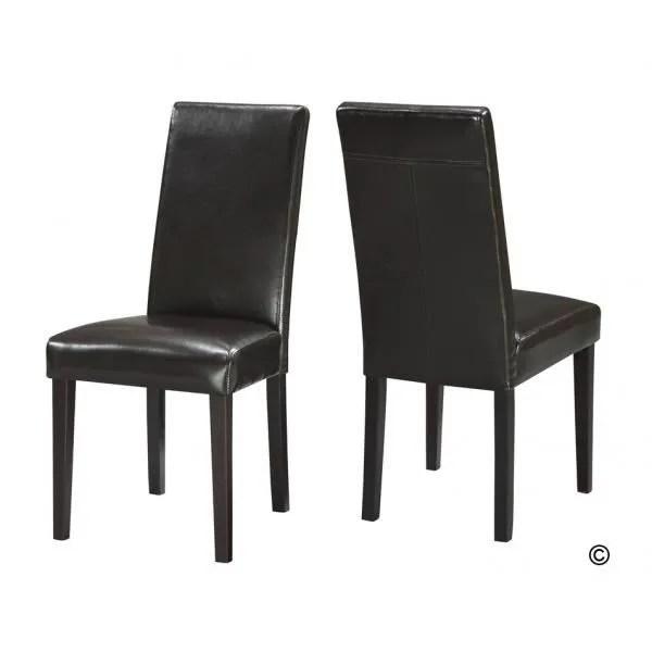chaise 2 chaises buffalo noir facon bycast haute qualite