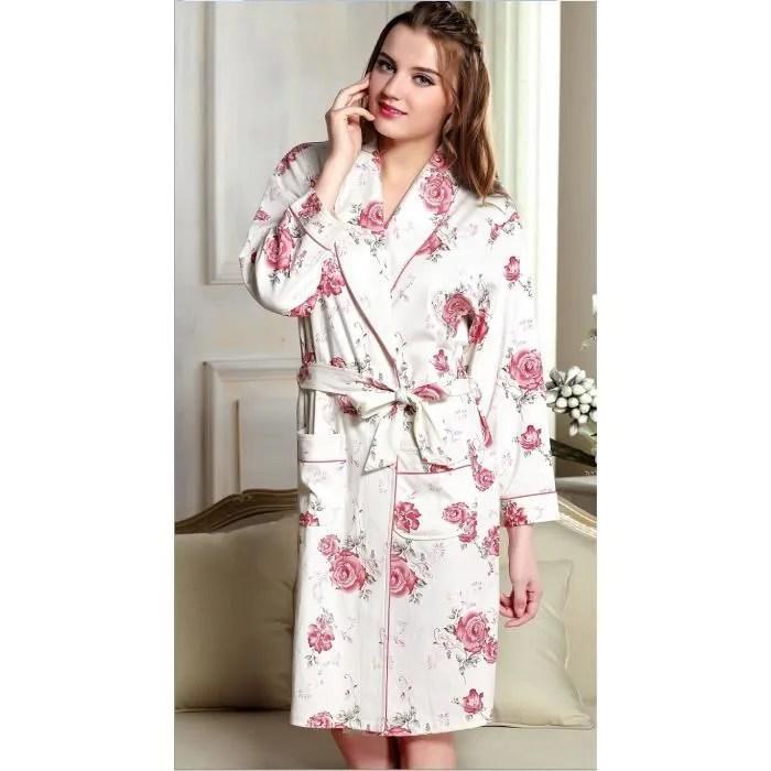 Robe De Chambre En Coton Femme