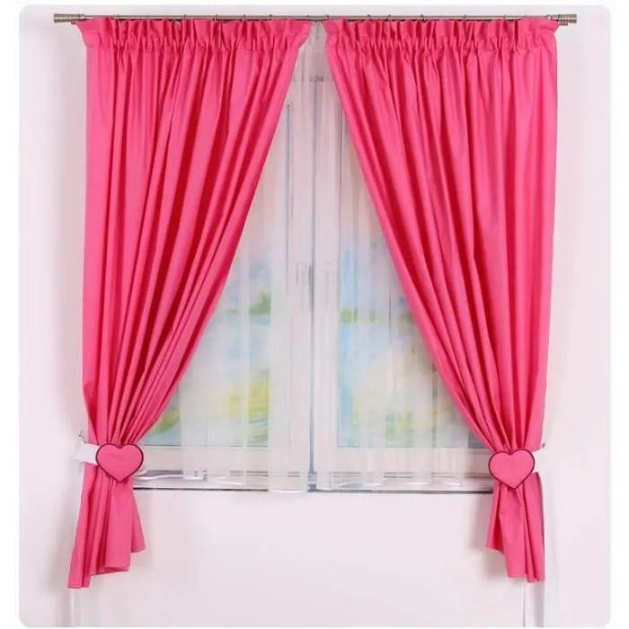 Rideaux de chambre bb fille Rose Framboise  Achat  Vente rideau 100 coton  Cdiscount