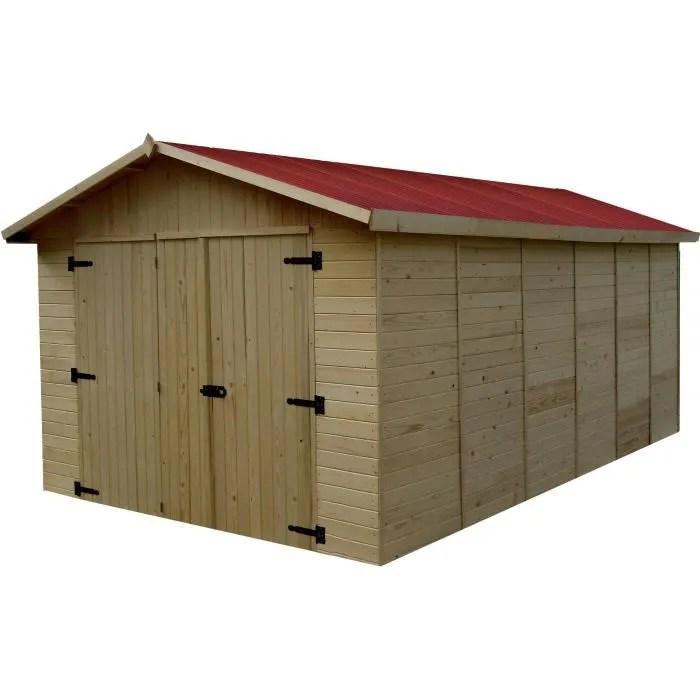 Garage 1560m En Bois Toiture En Plaques Ondules