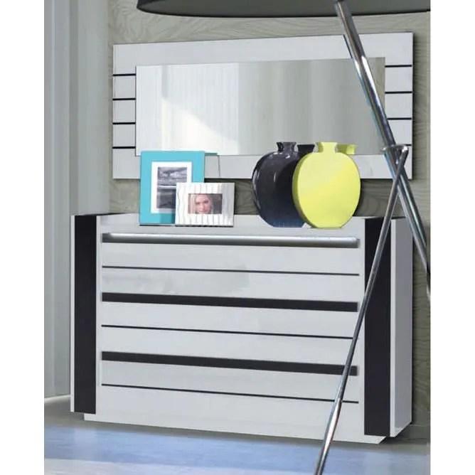 Commode LINA  LED blanche et noire laque design Commode pour chambre  coucher  Achat