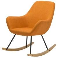 NORTON Fauteuil Rocking Chair en tissu orange - Pieds ...