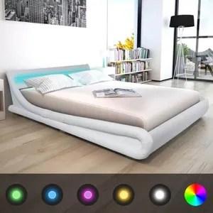 lit complet lit avec led adulte contemporain cadres de lit str