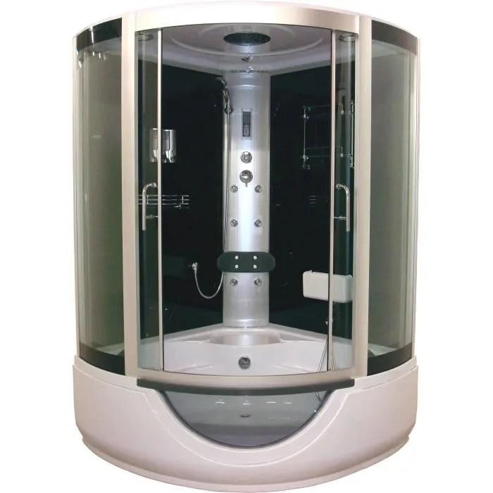 cabine de douche baignoire hydromassante faro 136x136cm