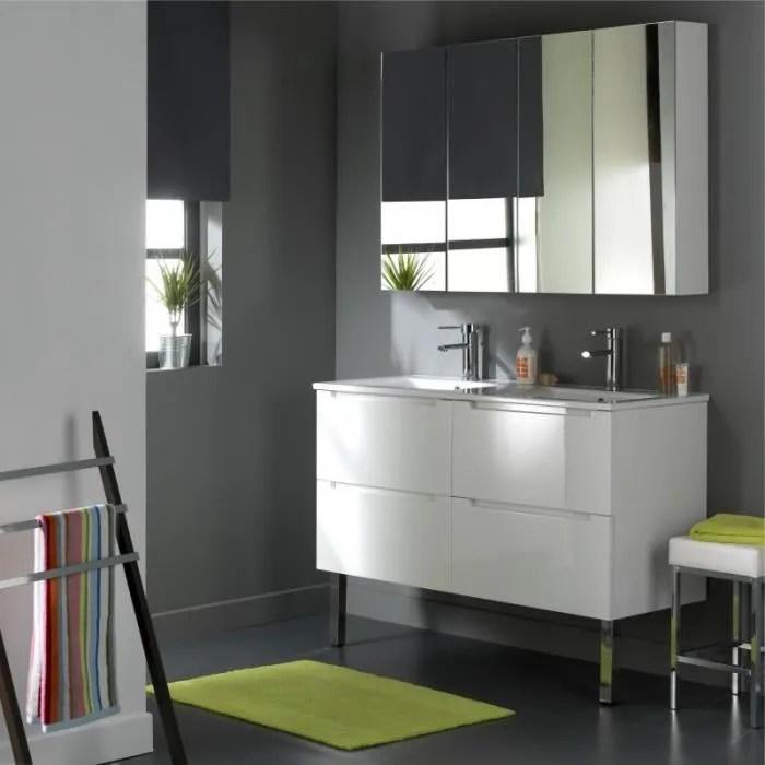 Meuble Design En 120 Cm Avec 4 Tiroirs Blanc Laqu Achat