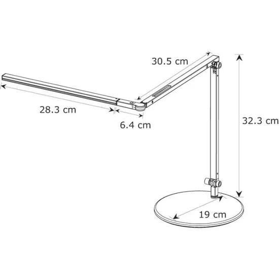 koncept z bar mini lampe de bureau 28 led argent achat vente koncept z bar mini lampe aluminium plastique carton cdiscount
