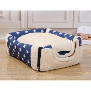 portable pet chien maison chaud et confortable chat lit double usage