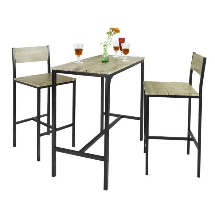 great sobuy ogt ensemble table de bar chaises with table de cuisine haute