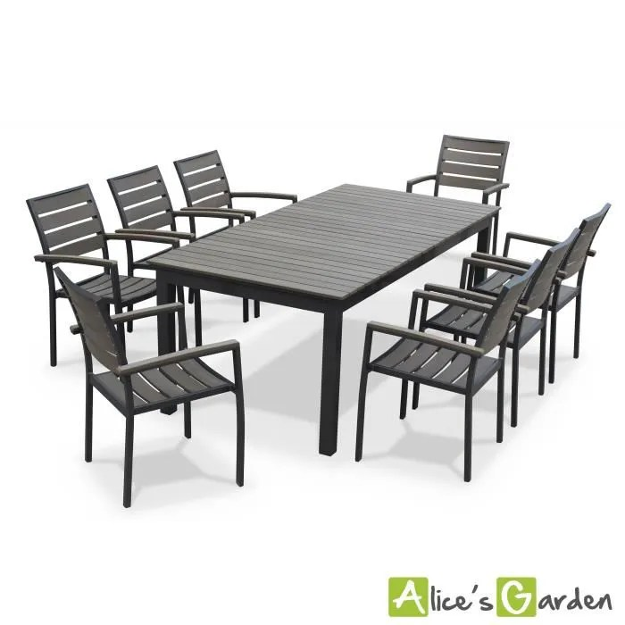 Seattle  table de jardin 8 places extensible  Achat  Vente salon de jardin Table de jardin
