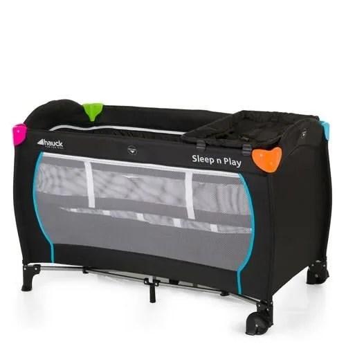 hauck lit parapluie sleep n play center avec plan a langer black