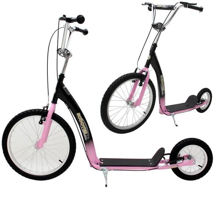 trottinette grande roue bequille design sport scooter roues