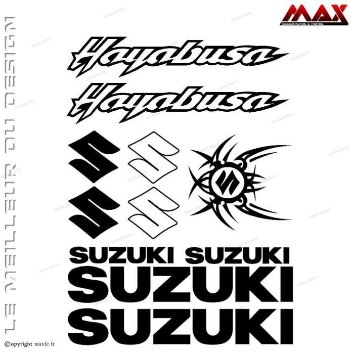 11 stickers SUZUKI Hayabusa – NOIR
