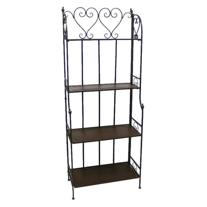ETAGERE RECTANGULAIRE FER FORGE CHARME  Achat  Vente meuble tagre ETAGERE RECTANGULAIRE FER