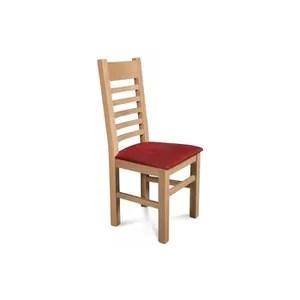 chaise lot de 2 chaises boston en chene clair assise bo