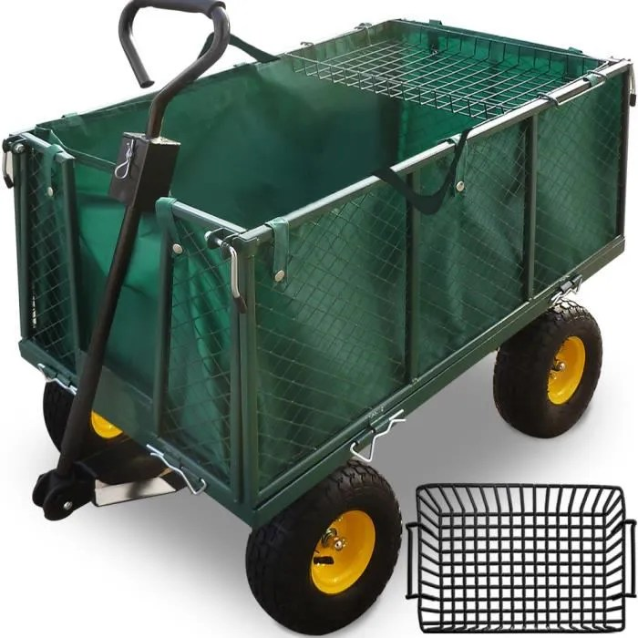 ChariotRemorque de jardin avec cts rabatables  Achat  Vente brouette  Cdiscount