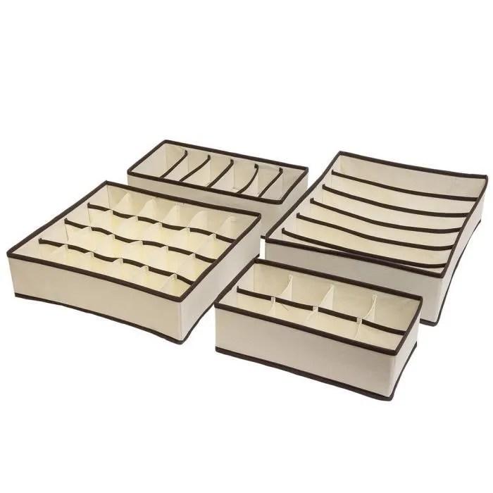urclever neat boite de rangement pour sous vetements pliable organisateur pour tiroir non tisse set de 4