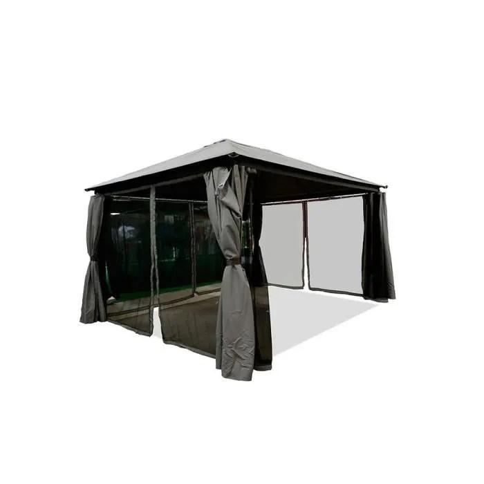 Tonnelle Barnum Tente De Jardin Pavillon Xm Avec Rideaux Gris