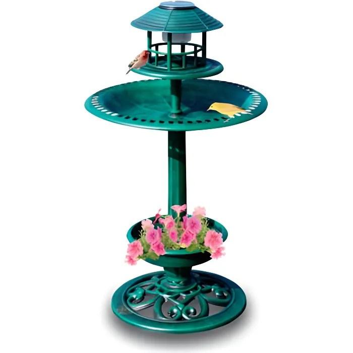 Vasque Oiseaux Solaire Deco  Achat  Vente fontaine de jardin Vasque Oiseaux Solaire Deco