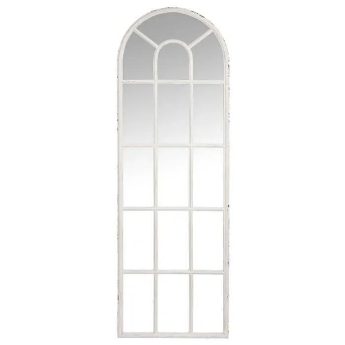 miroir fenetre metal blanc taille m uther l 53 x l 4 x h 166