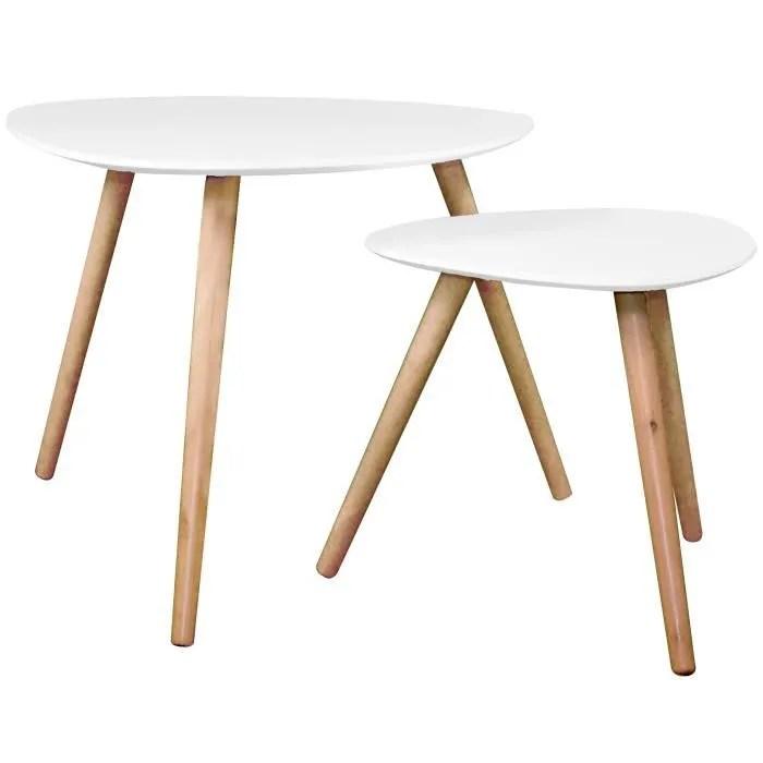 Table Basse Wald Blanche Lot De 2 Achat Vente Table