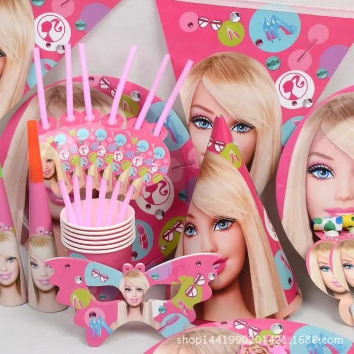 90pcs barbie luxury anniversaire party decoration pack enfants