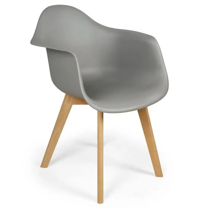 Lot De 4 Chaises Scandinaves Design Prado Gris Achat