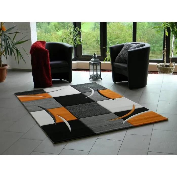 tapis salon orange enredada