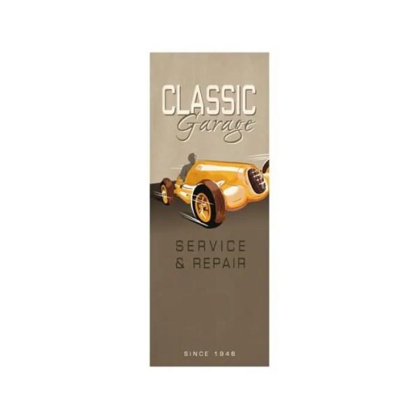 Papier peint lé unique Vintage Classic garage beige