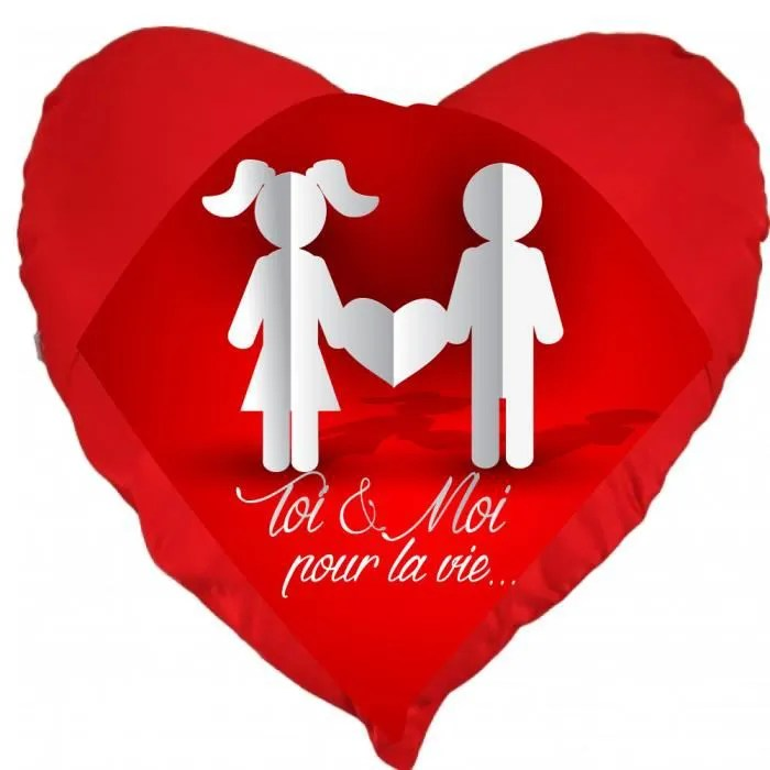 Coussin St Valentin Coeur Toi Et Moi Pour La Vie Un