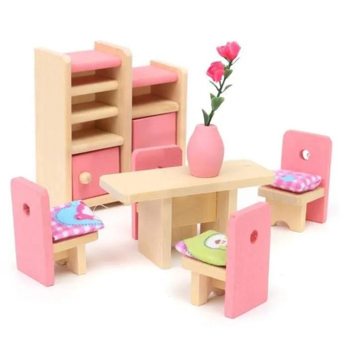 poupee en bois salle a manger meubles maison set pour enfants enfants cadeau maison de poupees