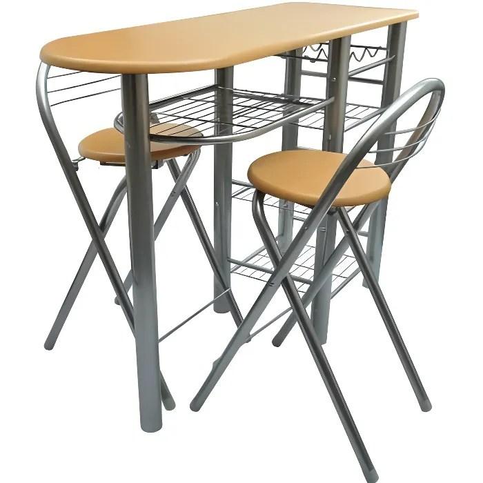 mange debout lot avec une table de bar avec 2 chaises