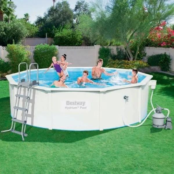 Kit piscine hors sol acier bestway 460x120 M filtration a sable  Achat  Vente piscine kit