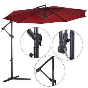parasol parasol excentre jardin m protection pare soleil