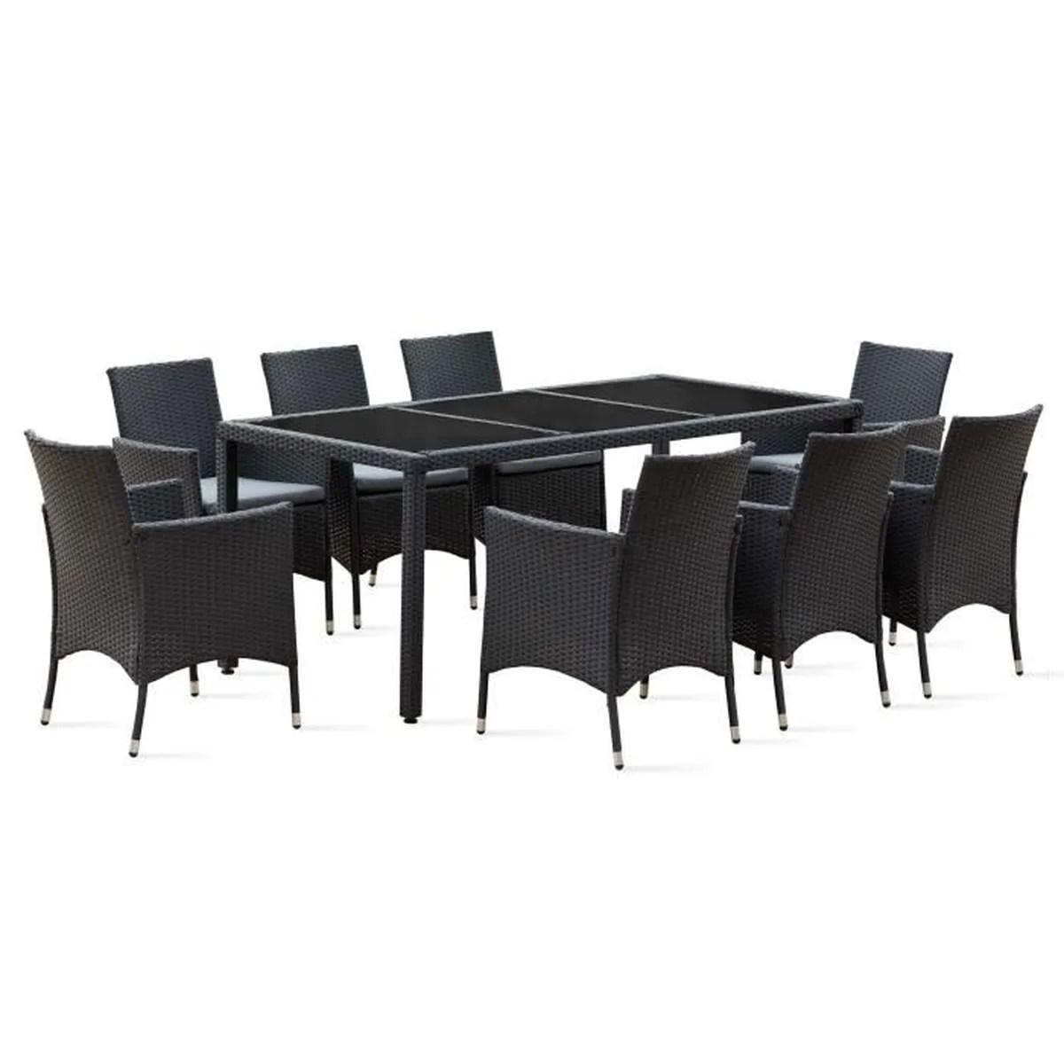 Salon De Jardin 8 Personnes En Solde | Table De Jardin En ...