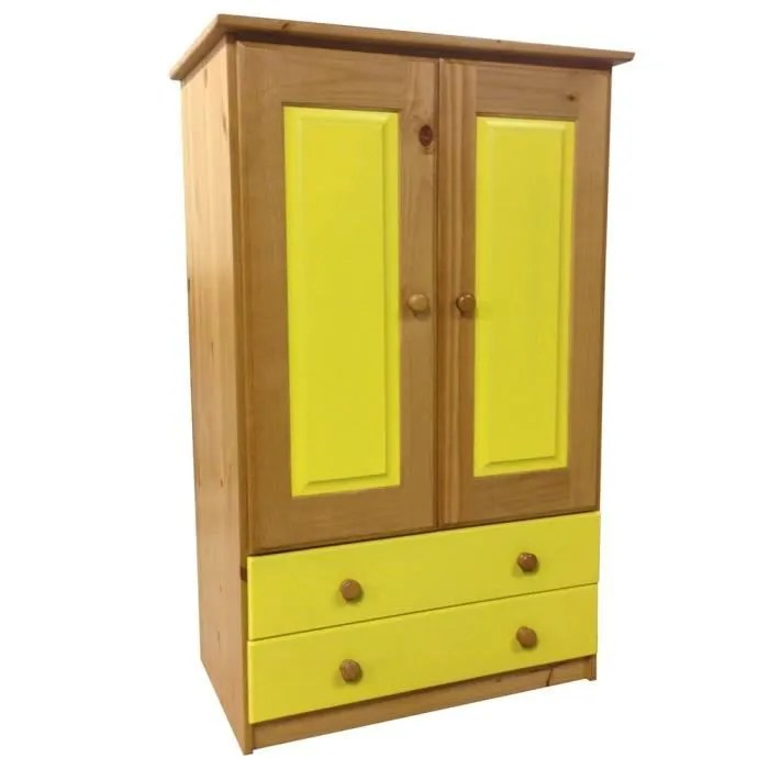 Armoire 2 portes2 tiroirs Verona NaturelLime  Achat