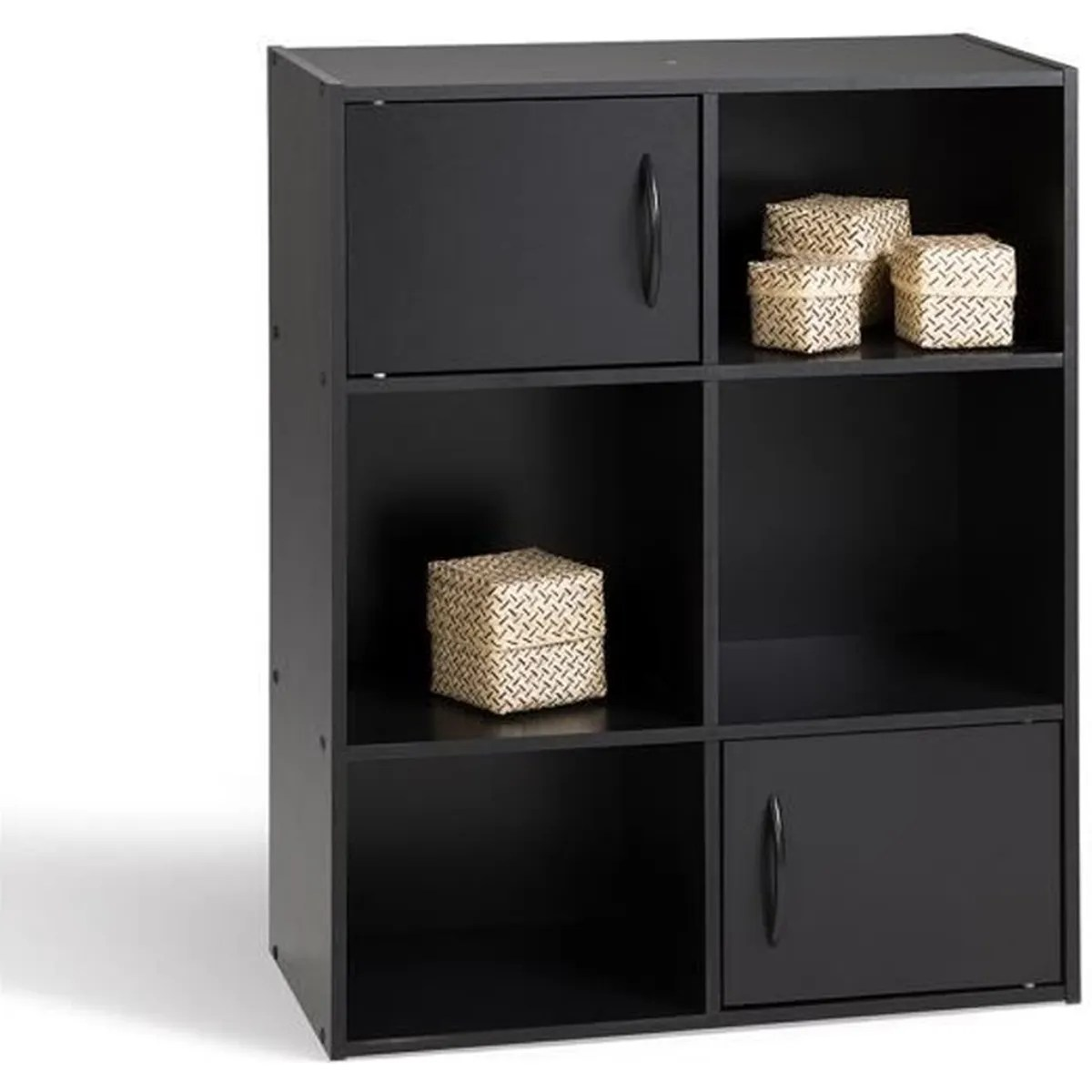 Meuble de rangement Noir en panneaux de particules 615x295x80 cm  Achat  Vente petit meuble