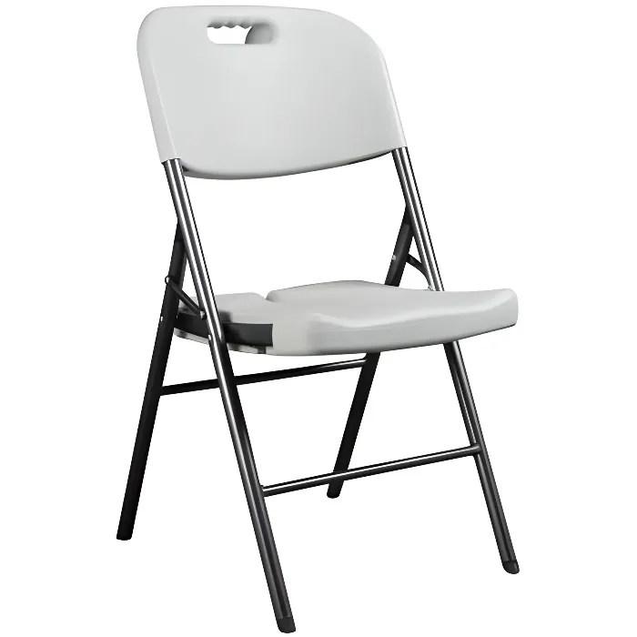 Chaise Pliante  Chaise D Appoint  Blanc  Achat Vente