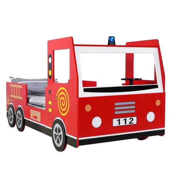 lit enfant design camion pompier 205x94 5x103cm