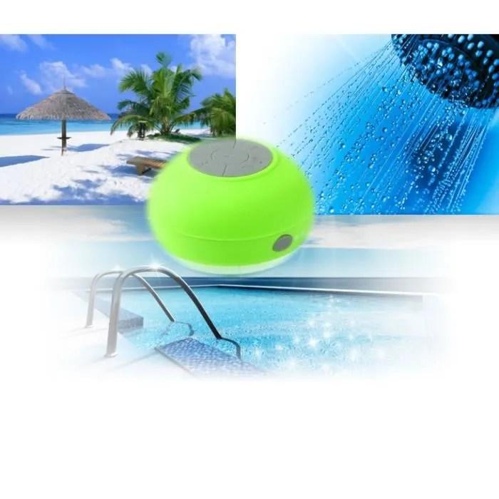 Enceinte waterproof Bluetooth plage douche piscine VERT  enceinte nomade avis et prix pas