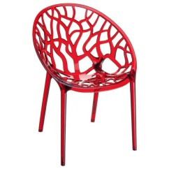Outdoor Pouf Chair Chromcraft Chairs Vintage Chaise Lysa Polycarbonate Rouge - Achat / Vente Cdiscount