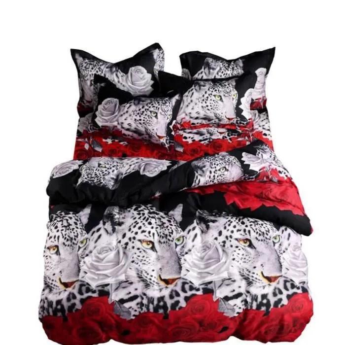 housse de couette seule neufu housse de couette rose leopard imprimee