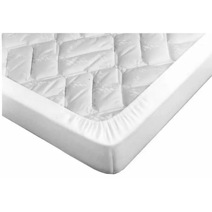 drap housse blanc pour canape lit bonnet 15 cm 135x185